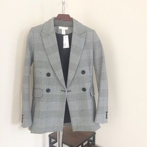 H&M Plaid Blazer.